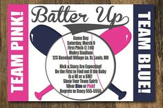 Batter Up #TeamPink #TeamBlue