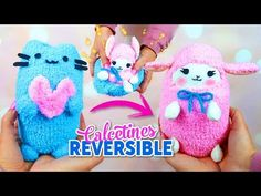 Sock Crafts, Cute Crafts, Diy Crafts For Kids, Pusheen Toys, Pusheen Cat, Stuffed Toys Patterns, Diy Craft Projects, Xmas Gifts, Plushies