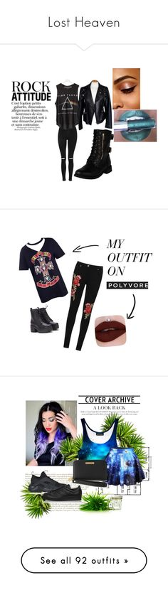 """""""Lost Heaven"""" by lucyheartyui on Polyvore featuring black, rock, bands, hobbies, moda, Topshop, Floyd, Alexander McQueen, music i Dark"""