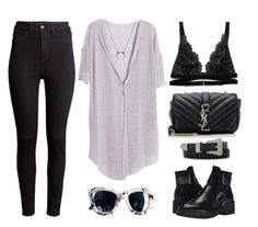 Soft Lilac by baludna on Polyvore featuring H&M, Ash and Yves Saint Laurent