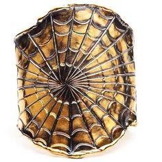 GARA DANIELLE Spider Web Cuff ($1,195) ❤ liked on Polyvore featuring jewelry, bracelets, accessories, cuffs, fillers, women, 14k jewelry, cuff bangle, cuff jewelry and 14k bangle