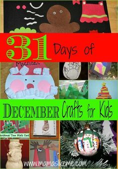 Mamas Like Me: 31 Days of December Crafts for #Kids #Christmas