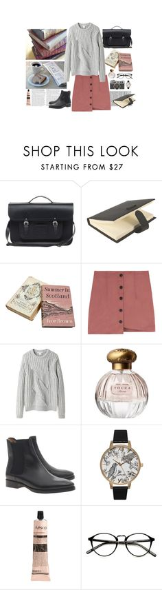 """Untitled #455"" by colecidra ❤ liked on Polyvore featuring The Cambridge Satchel Company, Bentley, Carven, Tocca, Acne Studios, Olivia Burton and Aesop"