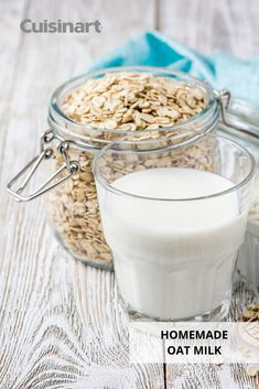 Forget the store-bought #oatmilk, and make some of your own right at home! Our recipe for #HomemadeOatMilk in our Complete Chef Cooking Food Processor is easy to follow, and it goes great in your coffees, granola, and more. #nutmilk #cuisinart #savorthegoodlife #plantbaseddiet #dairyfree Cooking Food, Plant Based Diet, No Cook Meals, Granola, Glass Of Milk, Food Processor Recipes, Dairy Free, Easy Meals, Forget