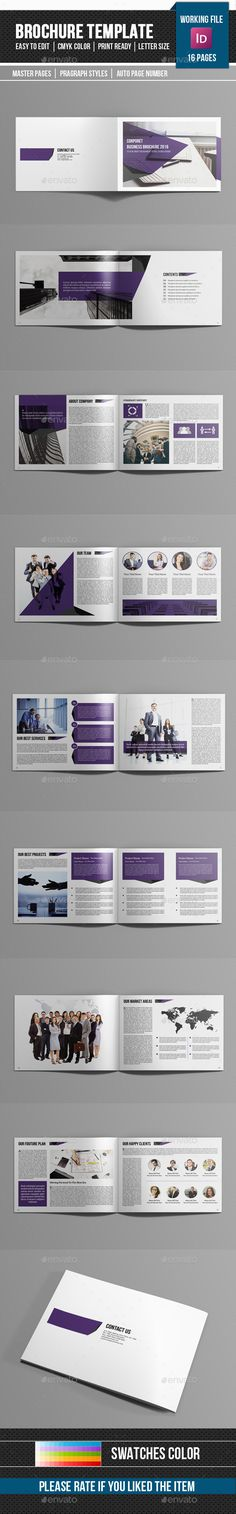 16 Pages Corporate Catalog / Brochure Template InDesign INDD. Download here: http://graphicriver.net/item/corporate-catalogbrochurev192/15375592?ref=ksioks