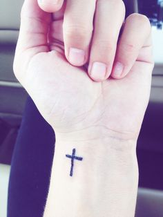 Cross tattoo on Pinterest | Cross Tattoos, Cross Wrist Tattoos and ...