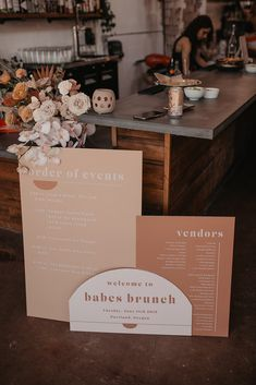 Fiesta themed Babes Brunch by Mae - DIY Event Wedding Themes, Wedding Designs, Wedding Events, Wedding Decorations, Wedding Day, Wedding Menu, Weddings, Event Signage, Wedding Signage