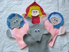 Little Red Riding Hood hand Puppets by puppetmaker on Etsy, $19.99