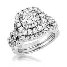 Ladies Amarra Diamond Wedding Set in White Gold | Wedding & Engagement | Bridal http://www.riddlesjewelry.com/bridal-and-wedding/diamond-wedding-rings-and-sets/ladies-amarra-diamond-wedding-set-in-white-gold-6972.html