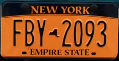 """""""Empire State"""" License plate, New York License Plate Decor, Old License Plates, Licence Plates, New York Plates, Liberty New York, Nfl New York Giants, Custom Metal, Empire State, Blog"""