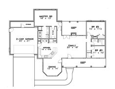 Contemporary Southern House Plan 57702 Level One