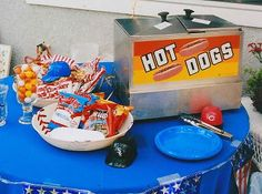 Opening Day Party - and I already have the stuff from Wyatt's birthday party!