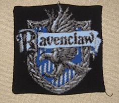 This pattern seems really difficult, but one day... (Ravenclaw crest crocheted blanket)