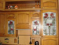 Витраж в кухонном интерьере .