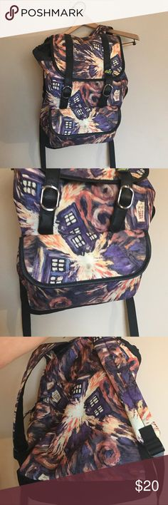 Dr. Who backpack Dr. Who backpack with multiple compartments and adjustable straps. Dr Who Bags Backpacks