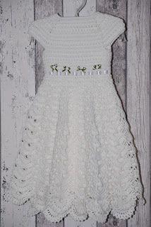 Taufkleid Gehäkelt Kindermode Häkeln Kleid Kreativ Häkeln