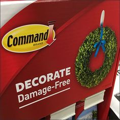Standing all by itself, this Decorate Damage Free Command Strip Floor Display catches shopper near the in-store shopping cart corral. Command Strips, Flooring, Display, Free, Decor, Floor Space, Decoration, Billboard, Wood Flooring
