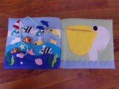 フェルトの仕掛け絵本 型紙完成 | shido-ricoのほほん子育て♪ハンドメイド日記 Diy Quiet Books, Busy Board, Felt Crafts, Handicraft, Baby Gifts, Education, Toys, How To Make, Fabric Books