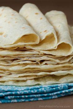 Homemade Flour Tortillas, so easy, SO good!