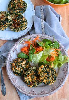 Nem acredito que é saudável!: Hambúrgueres de tofu e espinafres (vegan, sem glúten) . Tofu and spinach burgers (vegan, gluten free)