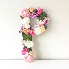 Shabby Chic Home Decor Baby Letters, Wedding Letters, Flower Letters, Nursery Letters, Letter Monogram, Floral Nursery, Floral Wall, Nursery Decor, Boho Nursery