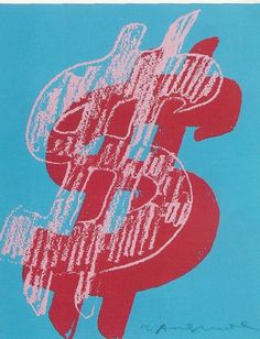 "Andy Warhol's numerous ""Dollar Sign"" paintings bluntly reminded people that ""big time art is big time money"", as well as the overall obsession with money. These paintings are symbolic of the greediness and materialism of the entire 1980's decade.🌸🦋🌻More Pins Like This At FOSTERGINGER @ Pinterest 🦋🌸🦋🌻"