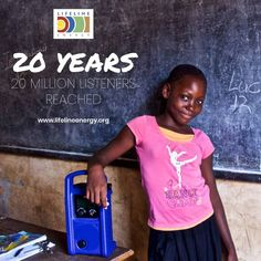 Celebrating 20 years of knowledge empowerment! Building on the rich traditions of oral history, we've reached millions of 'last mile listeners' with school lessons, agriculture and health content, emergency information, financial literacy, news and much more. #20Years #20MillionListenersReached