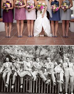 Love the colors for the bridesmaid dresses...and that groomsmen picture