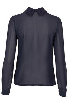 Navy shirt navy lace collar £29.99