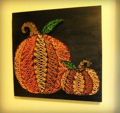 fall decor, pumpkin string art, home decor, pumpkin decor, halloween decor, etsy finds, the best gift, gifting idea
