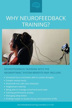 The uses of neurofeedback vary widely. This is possible because the brain is involved in much of the body's functioning so many areas can improve from neurofeedback training.The two broad areas are specific concerns and overall wellness. Learn what neurofeedback system is suitable for home use and what the top benefits are. Brain Trainer, Brain Tricks, Anxiety Help, Brain Waves, Peak Performance, Training Center, Brain Health, Anger Management, Going To The Gym