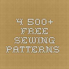 4.500+ Free Sewing Patterns.