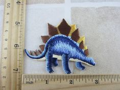 Dinosaur Patch - Animal Embroidered Iron On Patches
