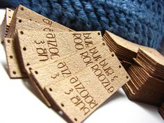 Personalized Knitting Labels - With Holes for Easy Attchment