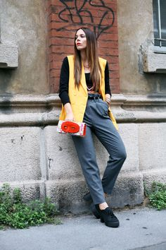 Today's spring time look, with trousers by Milly and a bag by An Italian Theory