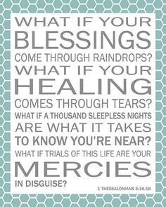 Blessings by Laura Story. :) One of the best Christian songs to ever exist in the universe. Bless us LORD!