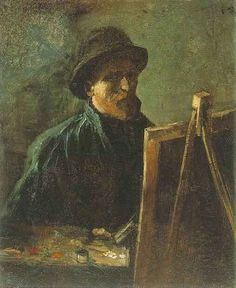 Vincent van Gogh. Self-Portrait with Dark Felt Hat at the Easel. Paris 1886.