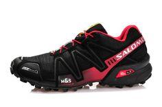 Salomon Speedcross 3 CS Mens Waterproof Running Shoes Black Red