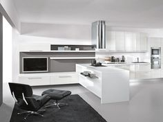 Beautiful Black And White Modern Living Room: Modern Lacquer Black And White Kitchen Design Ideas By Arredissima