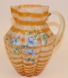 Victorian Pitchers, Glass Pitchers, Vintage Glassware, Antique Glass, Glass Art, Ice Buckets, Enamel, Tumblers, Phoenix