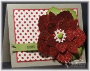 Poinsettia with Blossom Petal punch & red glimmer paper