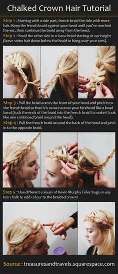 Chalked Crown Hairstyle | Beauty Tutorials