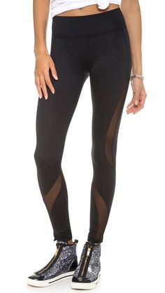 MICHI New Serpente Leggings. Mesh is only on the front of the leg.