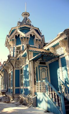 #Tomsk, #Russia. One of the oldest towns in Siberia. Old russian wooden gingerbread house