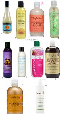selection shampoing curlidole cheveux crépus