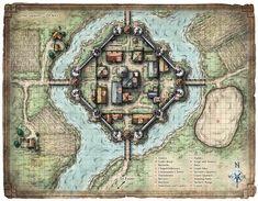 fantasy coastal village at base of cliff map Google Search Village map Fantasy city map Tabletop rpg maps