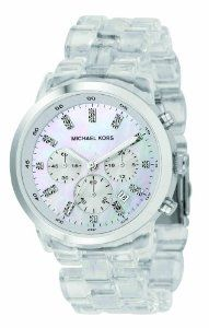 Michael Kors Quartz, Mother of Pearl Dial Acrylic Clear Band - Womens Watch MK5235 $224.00