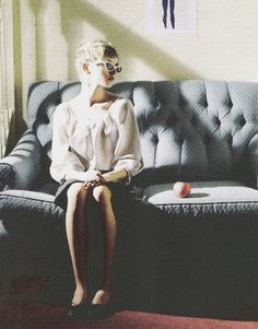 girl on couch.