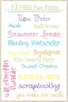 Grits & Giggles: My Favorite Fonts