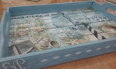 Taller- bandeja decoupage-chalkpaint